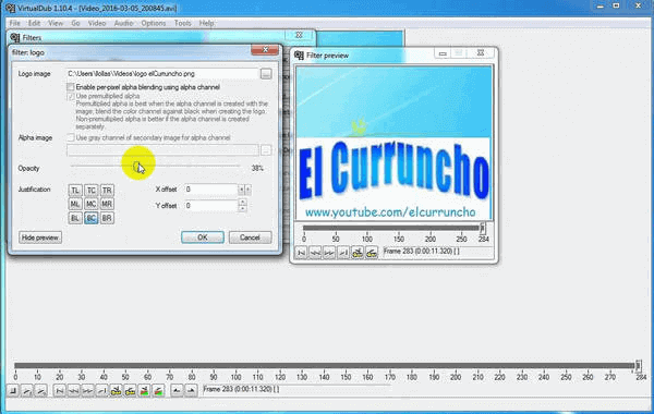 VirtualDub is a powerful video editing freeware used by lots of professionals with many features.