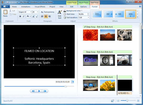 Windows Movie Maker is a free and good Add Logo to Video Software for Windows users.
