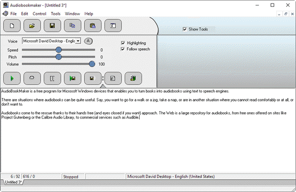 AudioBookMaker is a free and handy text to speech software for PC.