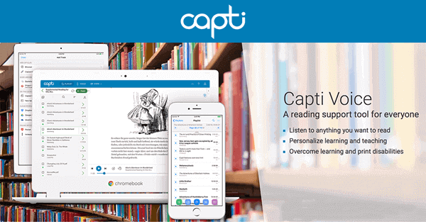 Capti Voice is considered as a specialized online and offline reading support solution.