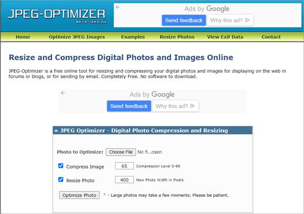 JPEG-Optimizer – Best Online Image Compressor with Variable Level